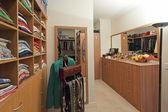 Walk in wardrobe — Stock Photo