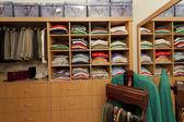 Male walk in wardrobe — Stock Photo