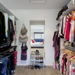 Foto Stock: Walk in wardrobe