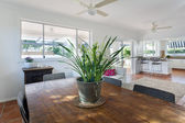 Dining and kitchen area — Stock Photo