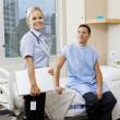 Nurse and patient - Foto Stock