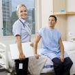 Nurse and patient - Foto de Stock