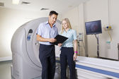Doctor and nurse with MRI scanner — Stock Photo