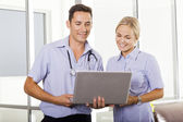 Young doctor and nurse — Stock Photo