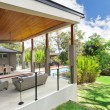 Modern backyard — Stock Photo