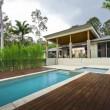 Modern backyard with pool — Stock Photo #11493232