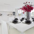 Dining area and kitchen — Stock Photo