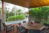 Outdoor entertaining area — Stockfoto