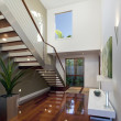 Modern house interior with staircase — Stock Photo