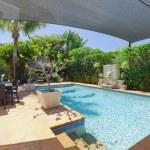 Backyard with swimming pool — Stock Photo #11636559