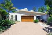 Elegante casa fronte — Foto Stock