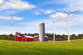 American Countryside With Windmill — Stock Photo