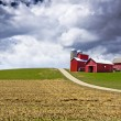 Stock Photo: American Country with stormy sky