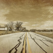American Country Road - Vintage Design — Stock Photo
