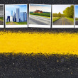 Travel Road Background — Stock Photo