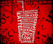 Vintage Coffee Poster — Foto de Stock