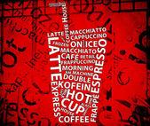 Vintage Coffee Poster — Stock Photo