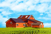 American Countryside Milk Farm — Stock Photo