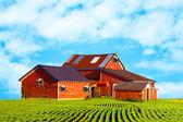 Americký venkov mléčné farmy — Stock fotografie