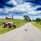 Amerikanska country road — Stockfoto