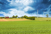 American Country with stormy sky — Stock Photo