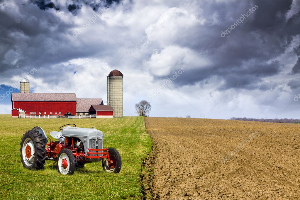 American Country with stormy sky  Stock Photo #11321661