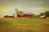 American Countryside - Vintage Design — Stock Photo