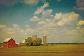 Amerikaanse platteland - vintage design — Stockfoto