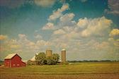 Amerikanische landschaft - vintage-design — Stockfoto