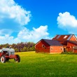 American Country with Blue Cloudy Sky - Stockfoto
