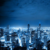 Flygfoto över chicago — Stockfoto