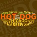 Hot Dog Text Cloud — Stock Photo