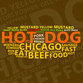 Hot Dog Text Cloud — Stock Photo