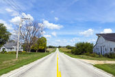 American Countryside Road With Farm Buildings — Stock Photo