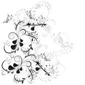 复古花卉卡用一手拉花 — 图库矢量图片
