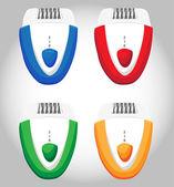Vector illustration of epilator razor on white background — Stock Vector