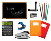 Back to school, vector elements, school icons — Stock Vector