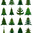 Set of Christmas trees vector — Stock Vector