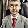 Retro kid dummy — Stock Photo