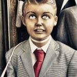 Retro kid dummy — Stock Photo