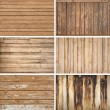 Various types of old wooden backgrouds — Stock Photo