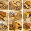 Set of breads — Stock Photo