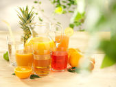 The set of different types of juices — Stock Photo
