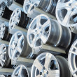 Various alloy wheels — Stock Photo #11132970