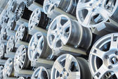 Various alloy wheels — Stock Photo