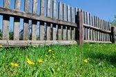 Recinzione in legno vecchio — Foto Stock