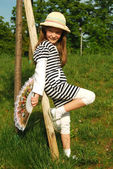 Little girls fashion models grow 009 — Stockfoto