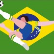 National Football - The Brazilian National - Samba of Brazil — Stock Photo