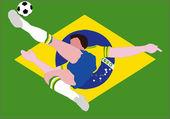 National Football - The Brazilian National - Samba of Brazil — Stock Photo