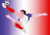 National Football - The French National - Blue Alè — Stock Photo